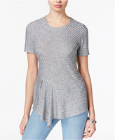 Bar III Metallic Asymmetrical Knit Top, Only at Macy's