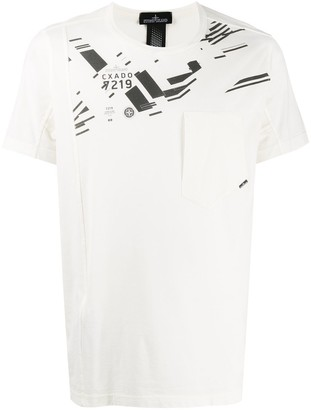 Stone Island Shadow Project asymmetric graphic print T-shirt