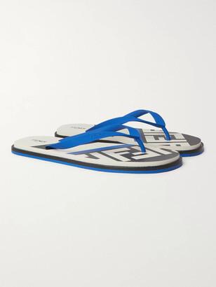 Fendi Logo-Print Rubber Flip Flops
