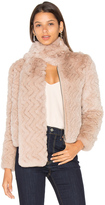 Joie Sela Rabbit Fur Jacket