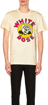CLOT x Zoe Vance White Rose Tee in Cream. - size S (also in )
