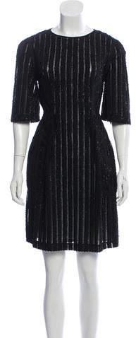 3d4145dbad4e Black Mesh Sleeve Dress - ShopStyle