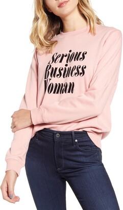 ban.do Serious Business Woman Sweatshirt