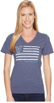 Life is Good Villanova Wildcats Team Flag Cool Vee Women's Short Sleeve Pullover