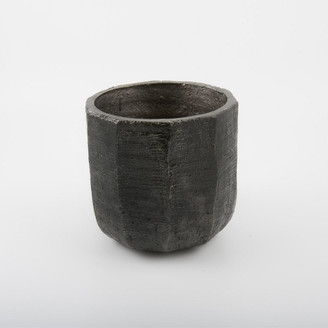 D&M Depot - Ceramic Plant Pot Rare Black 17cm - ceramic   17 x 17 x 17 cm   black - Black/Black