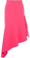 Milly Charlotte Asymmetric Crepe Midi Skirt