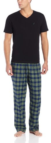 Nautica Men's Boxed Plaid Pajama Gift Set