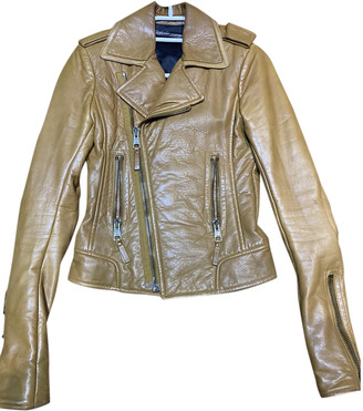 Balenciaga Camel Leather Jackets