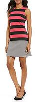 Calvin Klein Multi Striped Sheath Dress