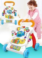 WDA Baby Walker Cart Baby, Early Childhood Puzzle, Multifunctional Walking Aid Toy With Music