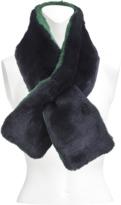 Yves Salomon bicolor rex rabbit collar