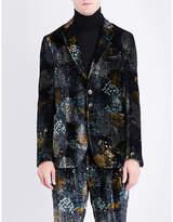 Etro Forest-patterned Regular-fit Velvet Jacket