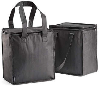 Fit & Fresh Set of 2 Insulated Grocery Bags with Zipper