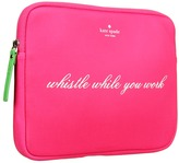 Kate Spade Whistle While You Work Tablet Sleeve (Zinnia Pink/Shamrock) - Bags and Luggage