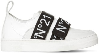 N°21 Leather Strap Sneakers