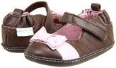 Robeez Fancy Fiona Mini Shoez (Infant/Toddler) (Brown/Pink) - Footwear
