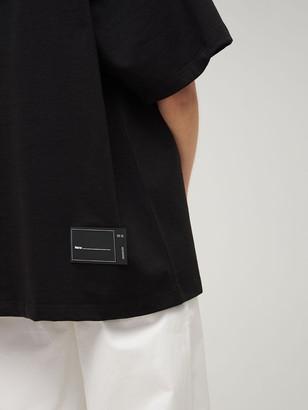 we11done Reflective Logo Jersey T-shirt