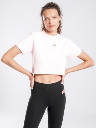 Ellesse Fireball Crop T-Shirt in Light Pink