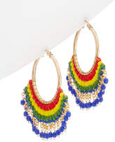 Miguel Ases 18K Plated Beaded Hoops