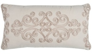 """Rizzy Home Donny Osmond 14"""" x 26"""" Floral Down Filled Pillow"""