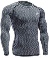YBL Men's Dry Skin Fit Long Sleeve Compression Printed Shirt Skull