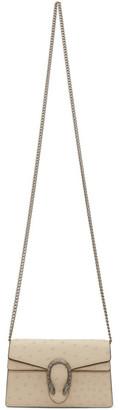 Gucci Off-White Super Mini Ostrich Dionysus Wallet Chain Bag