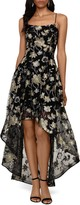 Xscape Evenings Embroidered Lace High/Low Gown