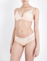 Passionata Brooklyn tulle and floral-lace plunge bra