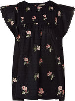 Ulla Johnson Black Floral Print Astrid Blouse