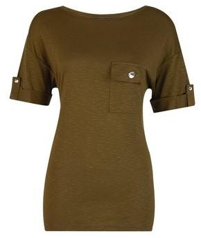 Dorothy Perkins Womens Tall Khaki Pocket T