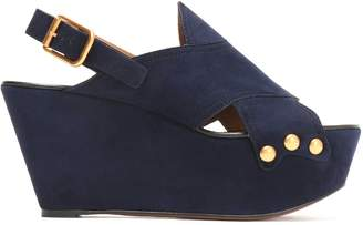 Chloé Mischa Studded Suede Platform Sandals