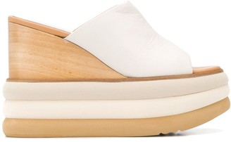 Paloma Barceló Toscani contrast wedge heel sandals