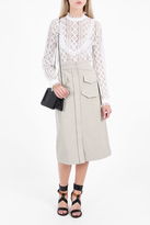 Vilshenko Bona Button Down Midi Skirt