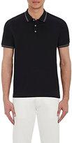 Theory Men's Tipped Boyd TC Polo Shirt-BLACK