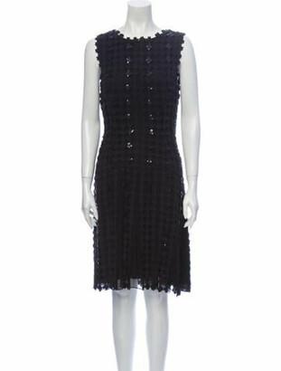 Oscar de la Renta 2014 Midi Length Dress Black