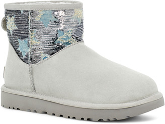 UGG Women's Casual boots GREY - Gray Violet Sequin Star Classic Mini Suede Boot - Women