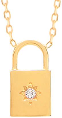 GABIRIELLE JEWELRY 22K Over Silver Cz Locket Necklace