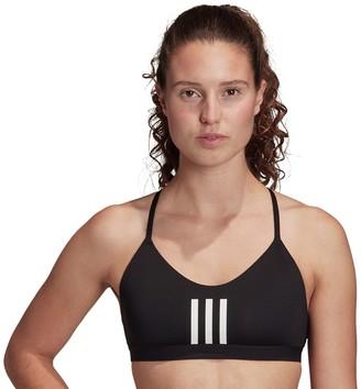 adidas Women's All Me 3-Stripe Mesh Low Impact Sports Bra