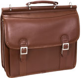 McKlein McKleinUSA Halsted 15.6 Leather Double Compartment Laptop Briefcase