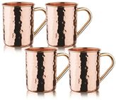 Old Dutch Straight 4-pc. Hammered Copper Moscow Mule Set