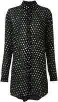 Saint Laurent polka dot shirt dress - women - Viscose - 36
