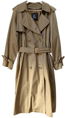Burberry Camel Wool Trench Coat for Women Vintage