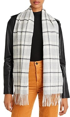 C by Bloomingdale's Check Cashmere Scarf - 100% Exclusive