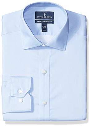 Buttoned Down Tailored-fit Spread-collar Micro Twill Non-iron Dress Shirt Button