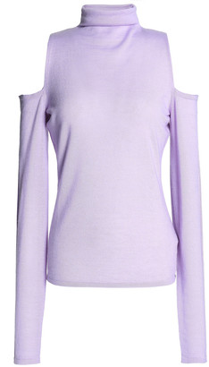 Amanda Wakeley Cold-shoulder Cashmere Turtleneck Sweater