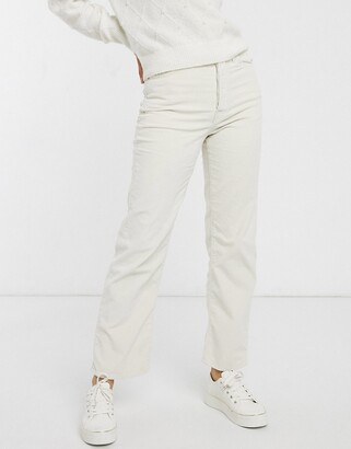Levi's Ribcage straight leg ankle grazer jeans in cream