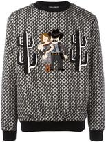 Dolce & Gabbana Western Family appliqué sweatshirt - men - Cotton/Polyester - 48
