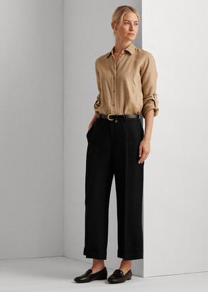Ralph Lauren Linen-Blend Wide-Leg Pant