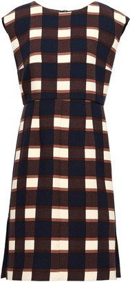 Marni Checked Wool-crepe Dress