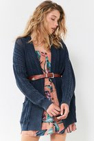 BDG Acid Wash Cable Knit Cardigan